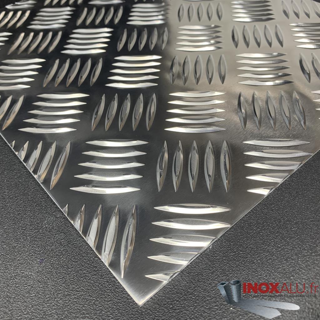 VENTE à La Coupe De Tôle Aluminium Damier Plaque Alu