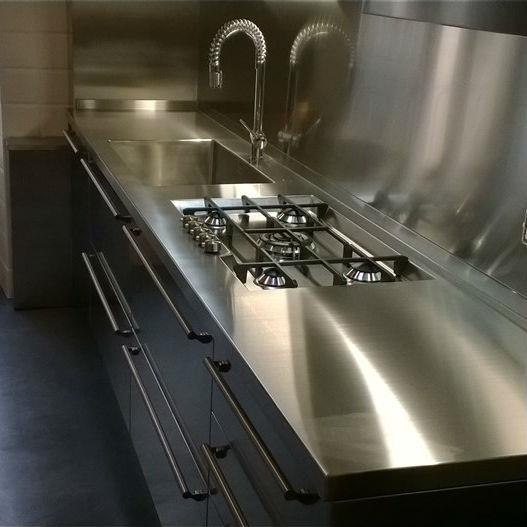 Credence industrielle inox